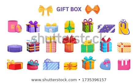 Glossy festive gift bag  Stock photo © natika