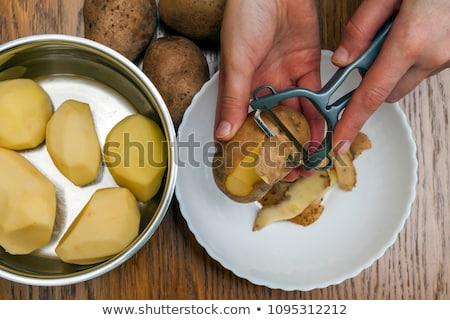 むいた 皮膚 白 木製 食品 ストックフォト © juniart