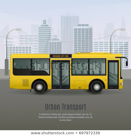 Yellow city bus. Coach. Vector illustration Stock photo © leonido