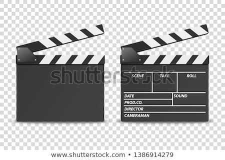 renk · siyah · beyaz · arka · plan · iletişim · video · Retro - stok fotoğraf © pedrosala