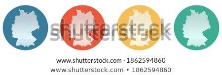 оранжевый кнопки изображение карт Германия форме Сток-фото © mayboro