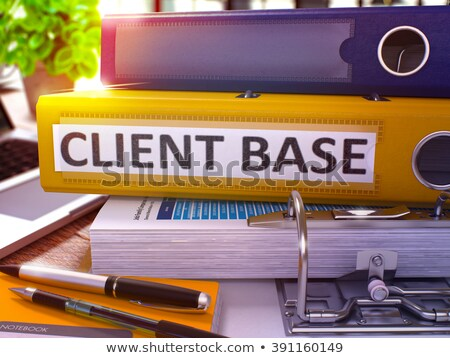 Office folder with inscription Client Base. Stock photo © tashatuvango