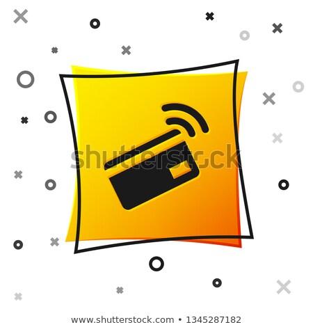 NFC Sign Yellow Vector Icon Button Stock photo © rizwanali3d