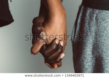 Mutlu evli lezbiyen çift eller Stok fotoğraf © dolgachov