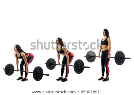 Three young Bodybuilders doing weightlifting Stock photo © wavebreak_media