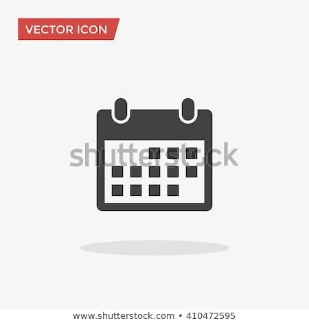 Randevú naptár ikon illusztráció felirat terv Stock fotó © kiddaikiddee