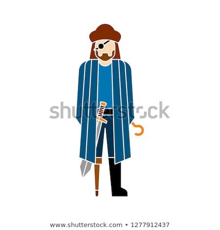 pirate flat icons vector illustration stock photo © konturvid