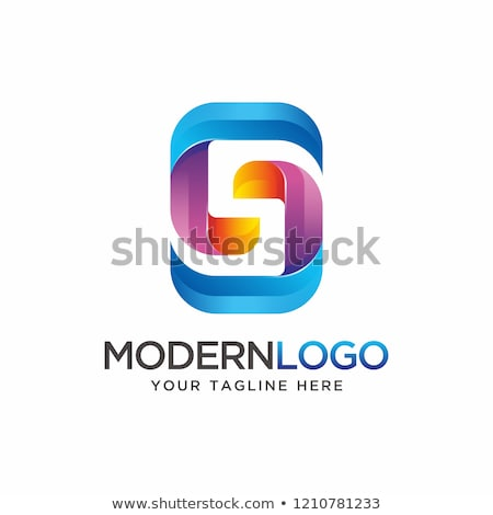 Blue and Orange Logo Shapes and Icons of Letter A Stock photo © cidepix