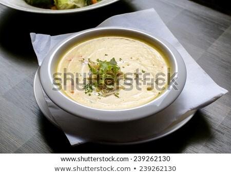 pumpkin and shrimps cream soup Stock photo © keko64