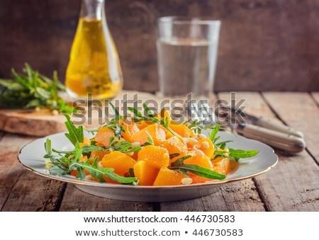 salata · kabak · beyaz · ızgara · ördek · taze - stok fotoğraf © artjazz
