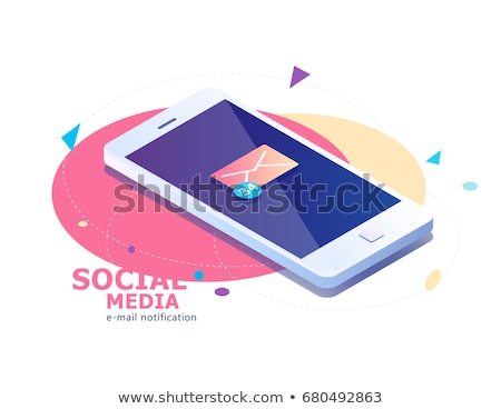 Göndermek posta düğme 3D laptop klavye sarı Stok fotoğraf © tashatuvango