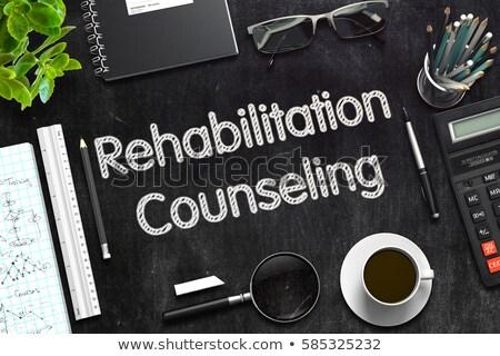 Adaptive Counseling on Black Chalkboard. 3D Rendering. Stock photo © tashatuvango