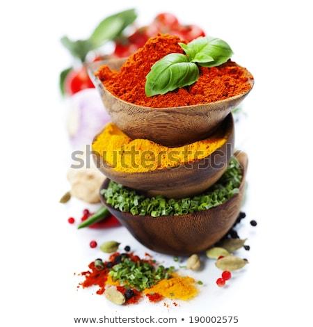 Kruiden specerijen witte schotel top Stockfoto © shutter5