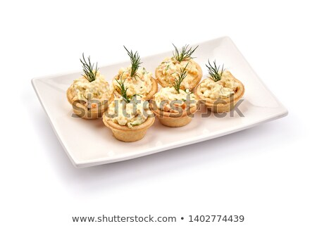 assorted canape with cheese and salmon Stock photo © M-studio
