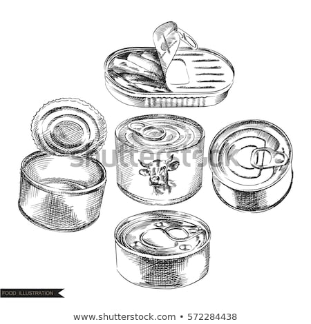 Preserved Food Set of Posters Vector Illustration Stock photo © robuart