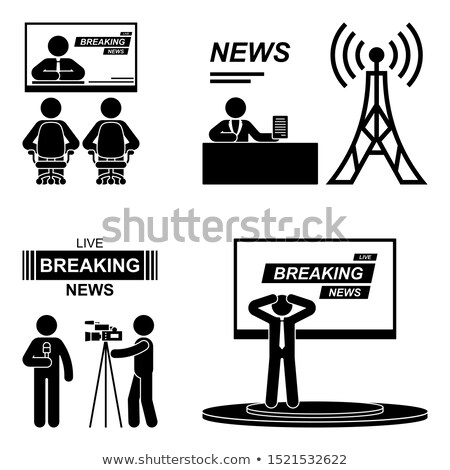 Stick figure is watching TV Stock photo © Ustofre9