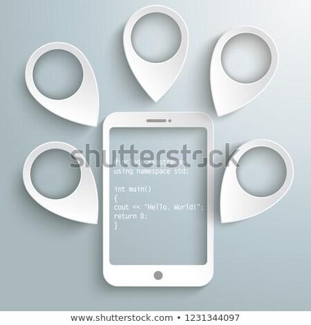Kod merhaba dünya beyaz gri Stok fotoğraf © limbi007