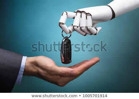 robot · bestuurder · 3d · render · rijden · compact · auto - stockfoto © andreypopov