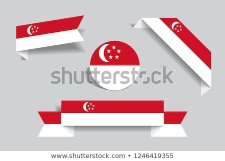 ステッカー テンプレート シンガポール フラグ 実例 デザイン ストックフォト © colematt