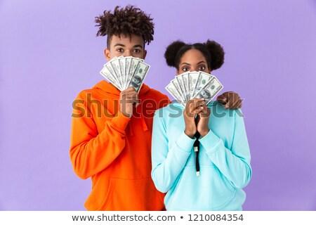 Photo ravi couple coloré vêtements Photo stock © deandrobot