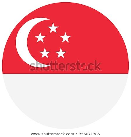flag of singapore on round badge stock photo © colematt