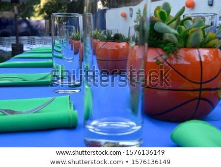 Azul ropa fiesta establecer nino beber Foto stock © toyotoyo