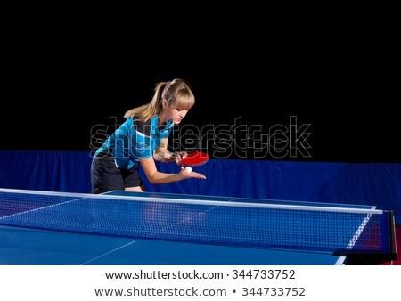 Girls serving table Stock photo © pressmaster