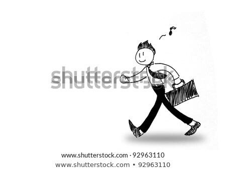 ビジネスマン 歌 実例 徒歩 歌 ストックフォト © tiKkraf69