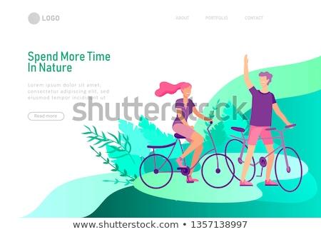 háló · leszállás · oldal · legjobb · minimális · terv - stock fotó © cienpies