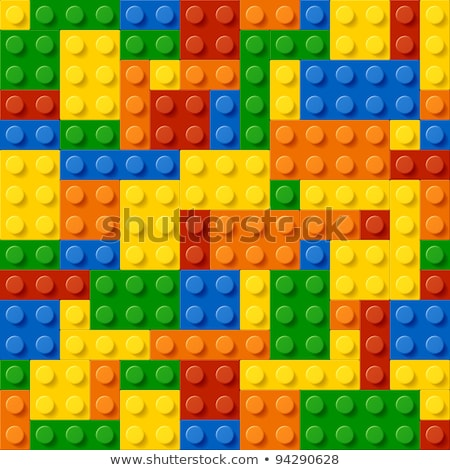 Bouw blokken baksteen spel ontwerp kinderen Stockfoto © SArts