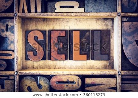 Sale Concept Vintage Wooden Letterpress Type Word Stock photo © enterlinedesign