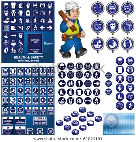 Tradesman Industrial Worker Cartoon Set Collection Stock photo © patrimonio