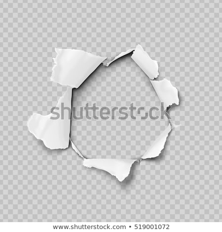 Torn hole in white sheet of paper Stock photo © evgeny89
