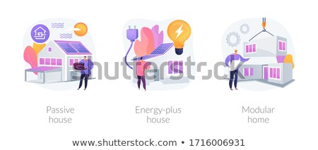 Passive house abstract concept vector illustration. Stock photo © RAStudio