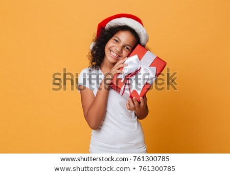 Santa Claus portrait smiling isolated over a black background Stock photo © HASLOO