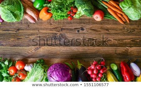 vegetables on wooden table stock photo © frannyanne