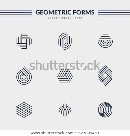 Round icon. Abstract symbol Stock photo © Designer_things