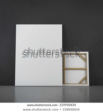 Template for advertising with print on canvas Stock photo © IMaster