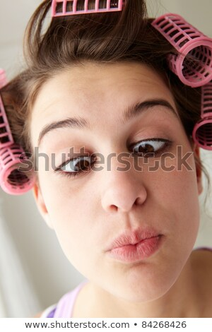 Brunette pulling a silly face Stock photo © photography33