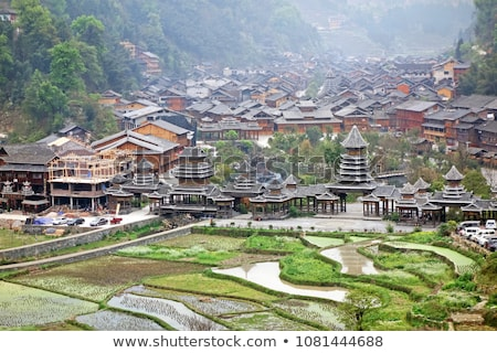 Gate Ancient Town Guizhou China Stock photo © billperry