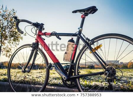 Stockfoto: Fles · water · fiets · wiel · Blauw · kaart