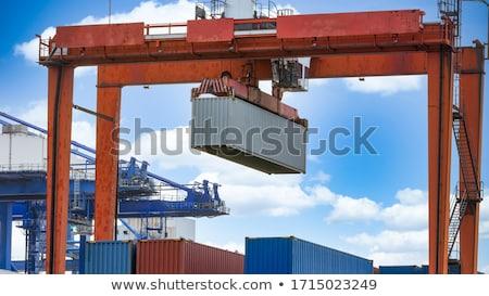 haven · nacht · groot · container · vracht · schip - stockfoto © rufous