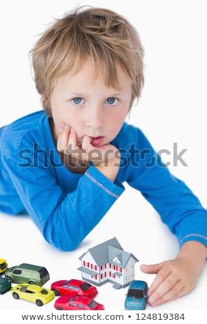 jongen · spelen · speelgoed · auto · witte - stockfoto © wavebreak_media