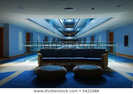 rojo · recepción · moderna · hotel · 3D · imagen - foto stock © luckyraccoon