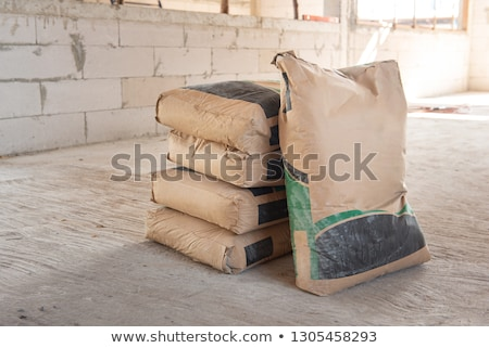 Rows of Concrete Bricks Drying stock photo © rhamm