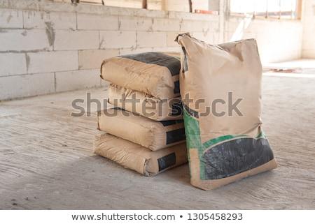 Rows of Concrete Bricks Drying Stock photo © rhamm