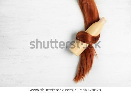 kapper · lang · zwart · haar · geïsoleerd · witte · handen - stockfoto © nito