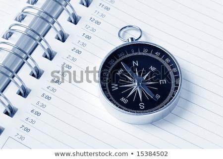 Photo stock: Calendrier · l'ordre · du · jour · boussole · temps · planification
