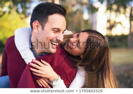 casal · retrato · feliz · outono - foto stock © dnf-style