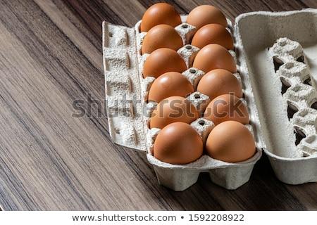 Całość brązowy kurczaka jaj naturalnych źródło Zdjęcia stock © stryjek